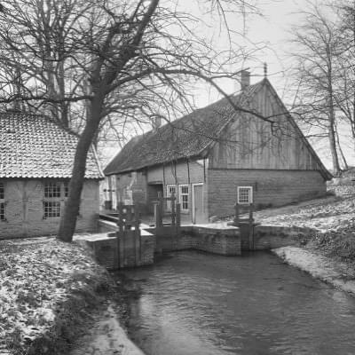 Watermolen 'Bels' in 1966 net na de start van de theeschenkerij.